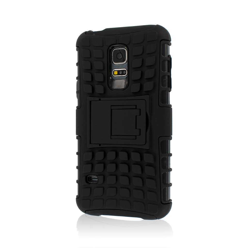 Samsung Galaxy S5 Mini - Black MPERO IMPACT SR - Kickstand Case Cover