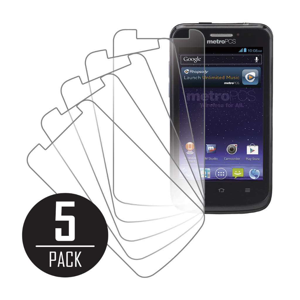 ZTE Avid 4G MPERO 5 Pack of Clear Screen Protectors