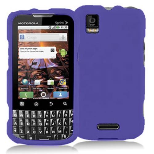 Motorola Xprt Purple Hard Rubberized Case Cover