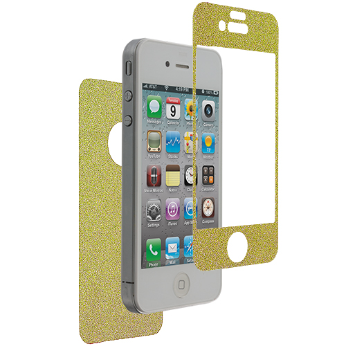 Apple iPhone 4 / 4S Yellow Glitter LCD Screen Protector
