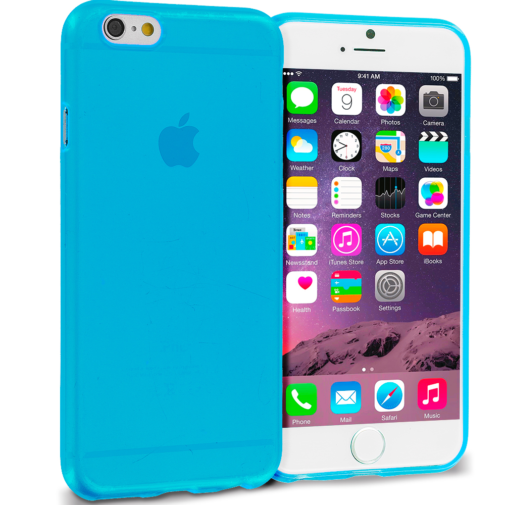 Apple iPhone 6 6S (4.7) Baby Blue (Transparent) TPU Rubber Skin Case Cover