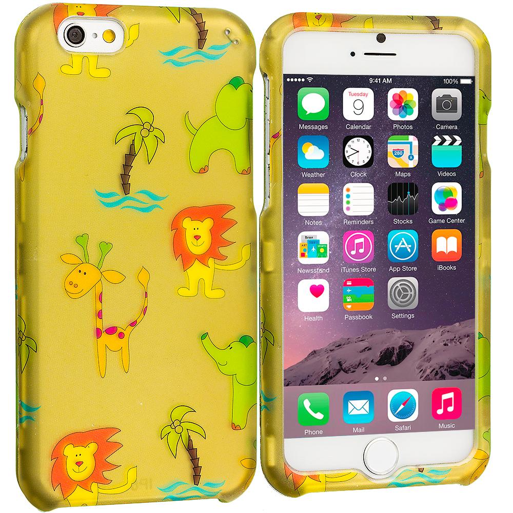 Apple iPhone 6 Plus 6S Plus (5.5) Zoo 2D Hard Rubberized Design Case Cover
