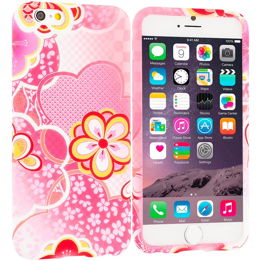 Apple iPhone 6 Plus 6S Plus (5.5) Pink Fairy Tale TPU Design Soft Rubber Case Cover