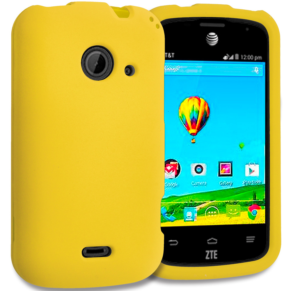 ZTE Zinger Prelude 2 Z667 Yellow Hard Rubberized Case Cover