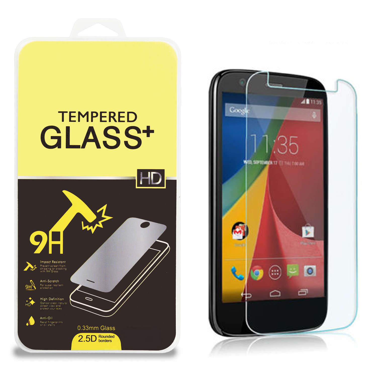 Motorola Moto E Clear Tempered Glass High Quality 0.33mm LCD Screen Protector