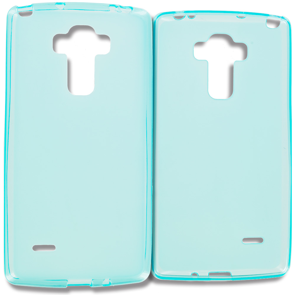 LG G Vista 2 Baby Blue TPU Rubber Skin Case Cover