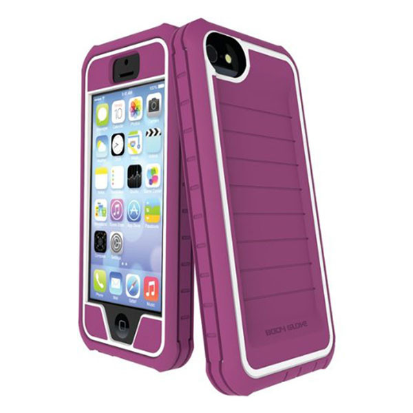 iPhone 5/5S/SE - Raspberry/White BodyGlove ShockSuit Case Cover