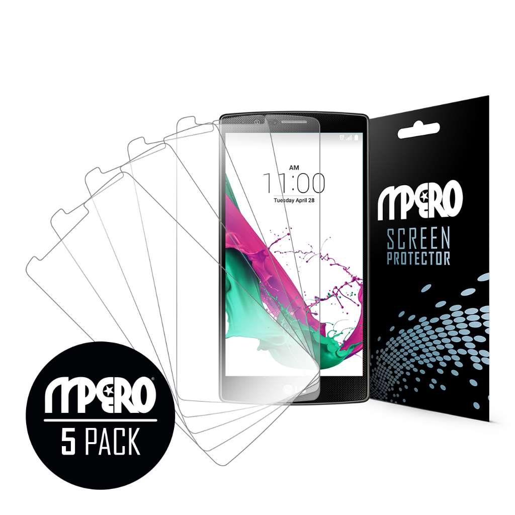 LG G4 MPERO 5 Pack of Ultra Clear Screen Protectors