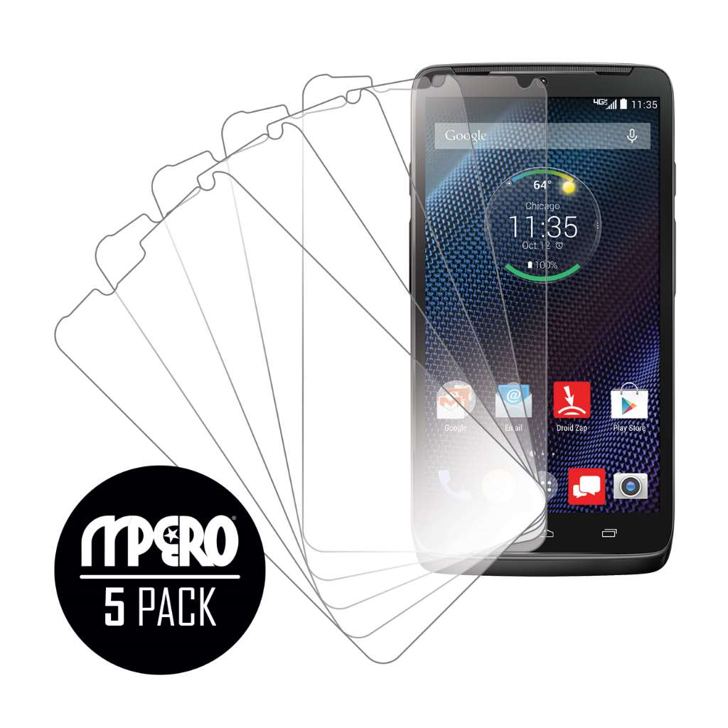 Motorola DROID TURBO MPERO 5 Pack of Ultra Clear Screen Protectors