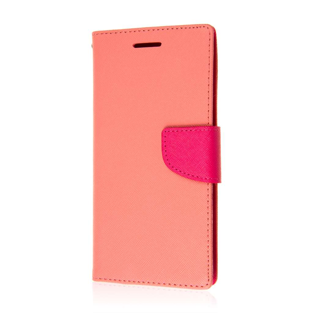 HTC Desire 816 - Pink MPERO FLEX FLIP 2 Wallet Stand Case Cover