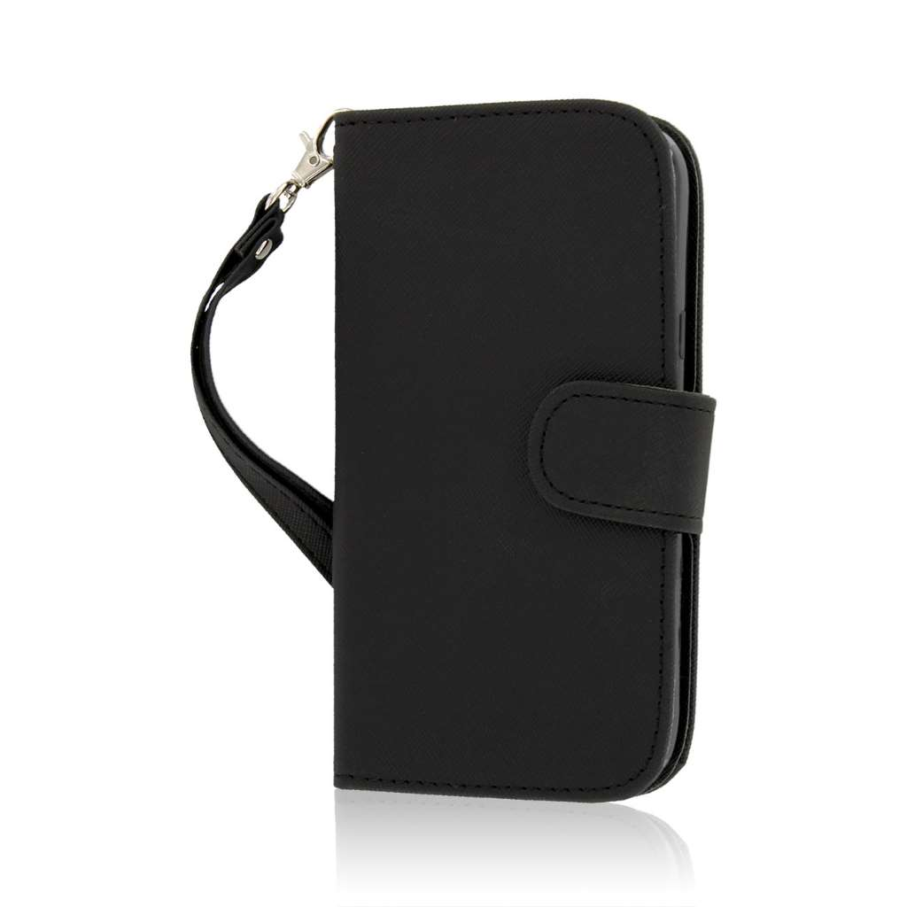 ZTE Grand X Z777 - Black MPERO FLEX FLIP Wallet Case Cover