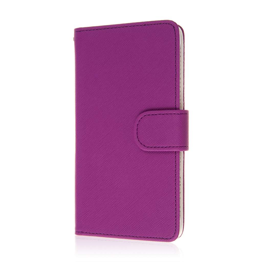 Samsung Galaxy Note 4 - Purple MPERO FLEX FLIP Wallet Case Cover