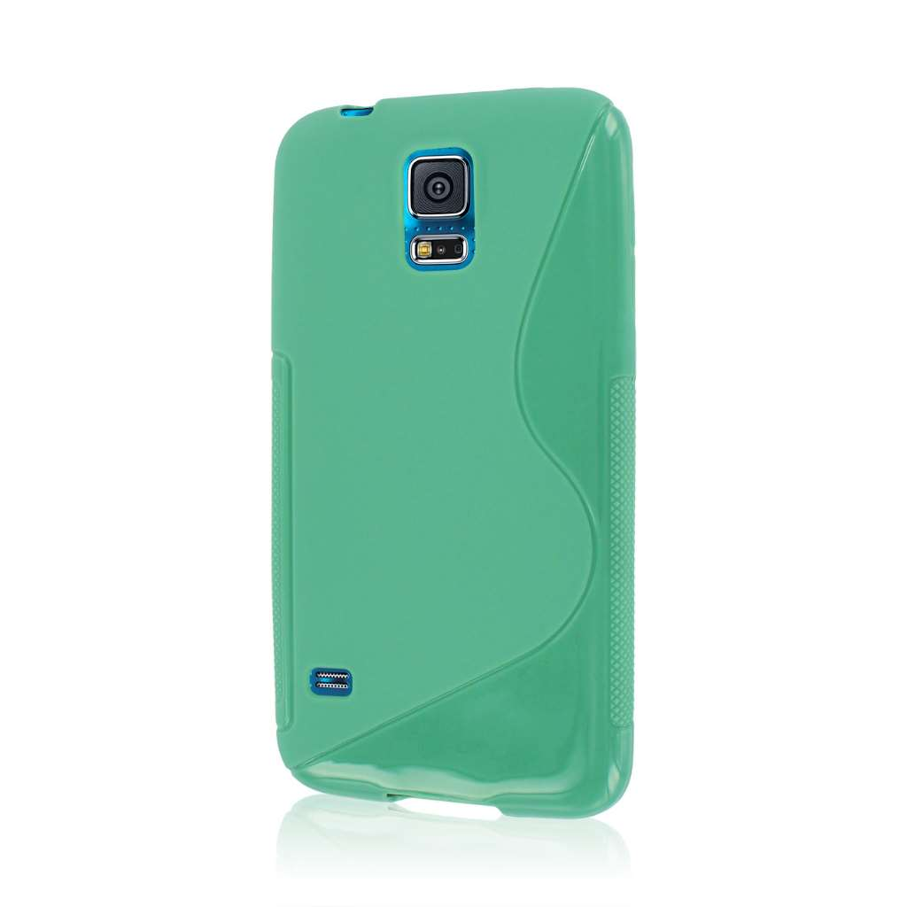 Samsung Galaxy S5- MINT GREEN MPERO FLEX S - Protective Case Cover