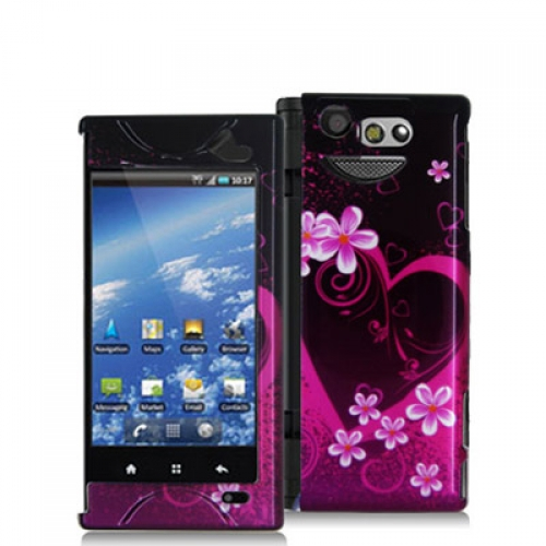 Kyocera Echo M9300 Purple Love Design Crystal Hard Case Cover