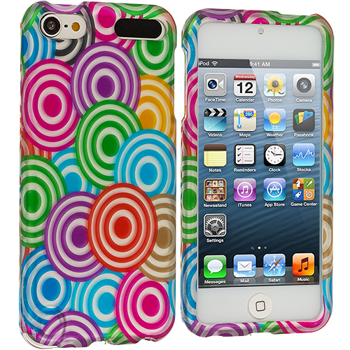 Apple iPod Touch 5th 6th Generation Colorful Lolly Hard Rubberized Design Case Cover