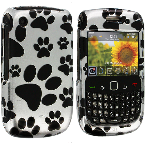 BlackBerry Curve 8520 8530 3G 9300 9330 Dog Paw Design Crystal Hard Case Cover