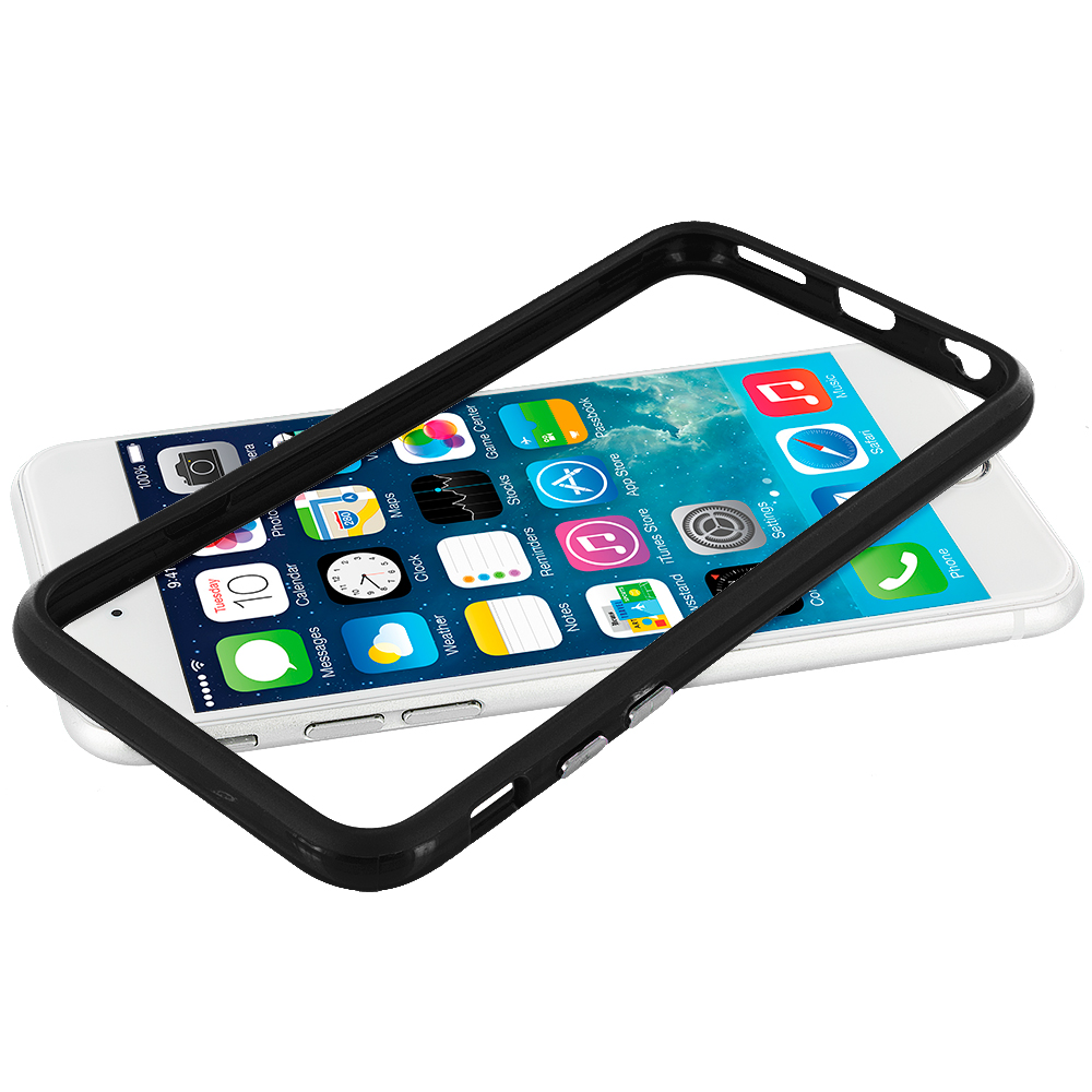 Apple iPhone 6 6S (4.7) Black TPU Bumper with Metal Buttons