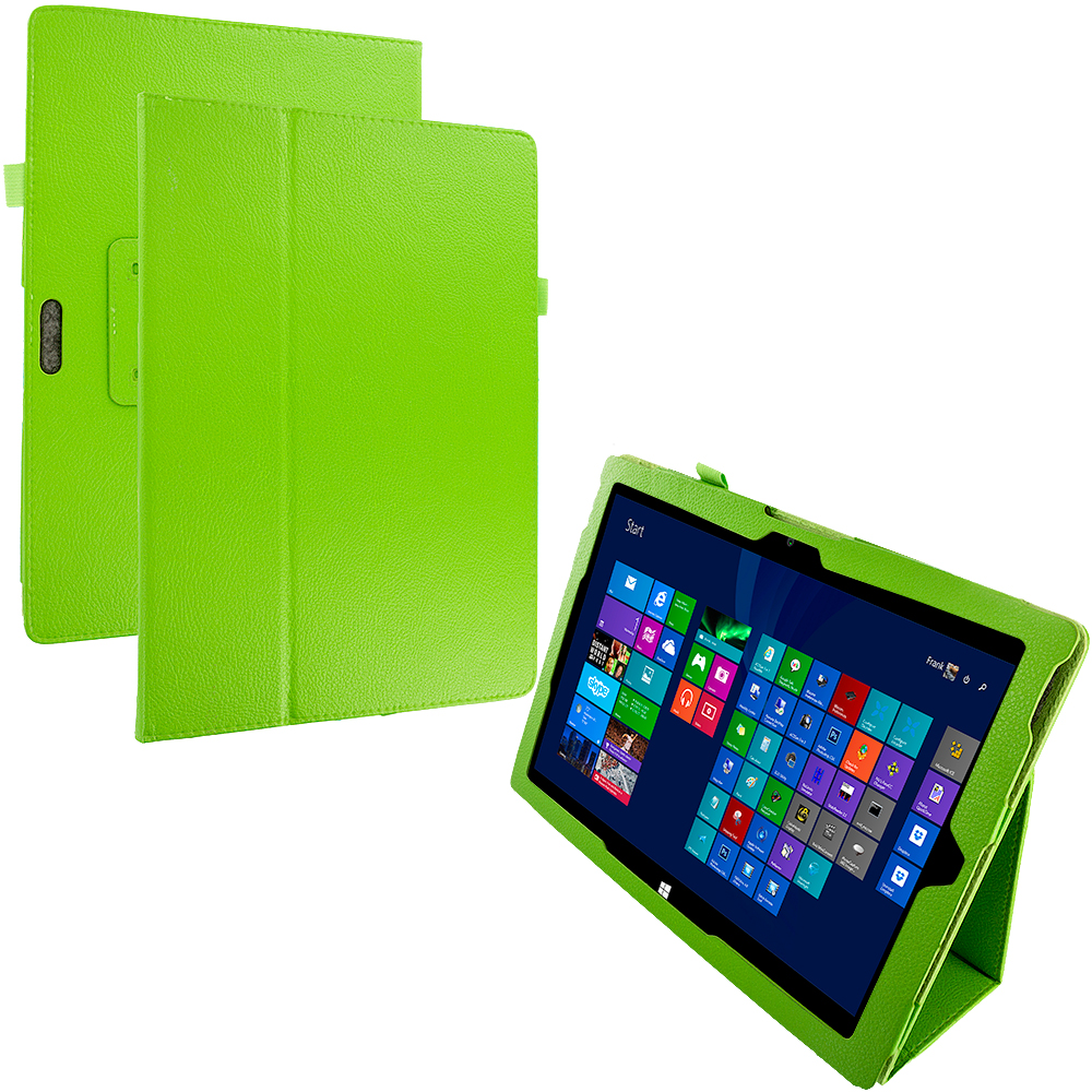 Microsoft Surface Pro 3 Green Folio Pouch Flip Case Cover Stand