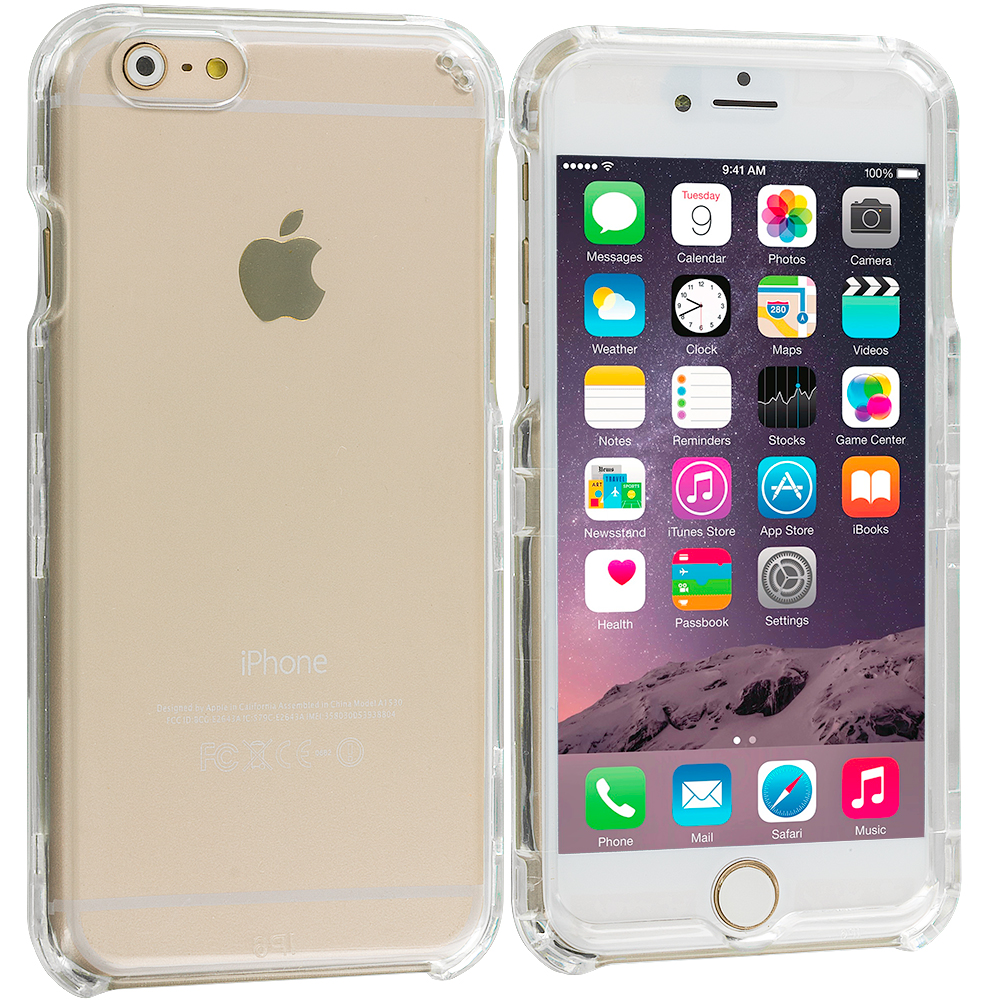 Apple iPhone 6 Plus 6S Plus (5.5) Clear Crystal Transparent Hard Case Cover