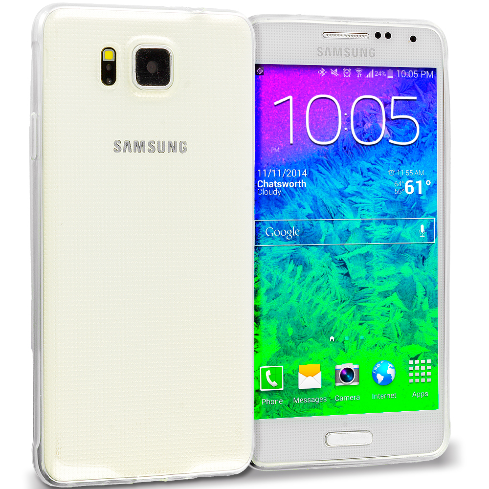 Samsung Galaxy Alpha G850 Clear TPU Rubber Skin Case Cover