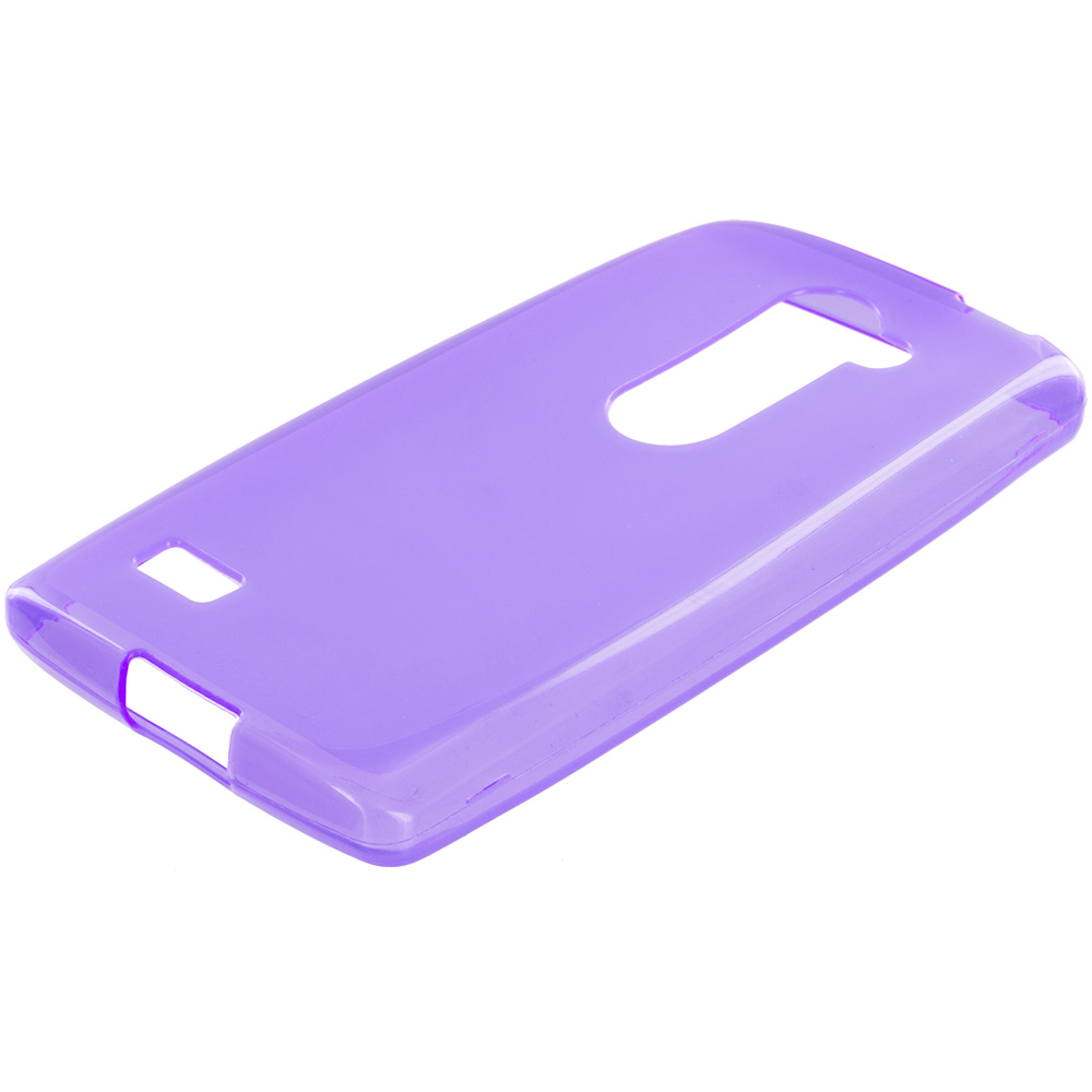 LG Tribute 2 Leon Power Destiny Purple TPU Rubber Skin Case Cover