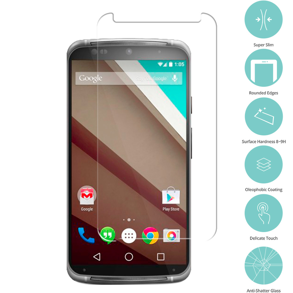 Motorola Moto X 3rd Generation Clear Tempered Glass Film Screen Protector Clear