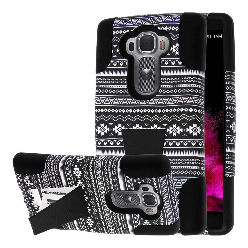 LG G Flex 2 - Black Aztec MPERO IMPACT X - Kickstand Case Cover