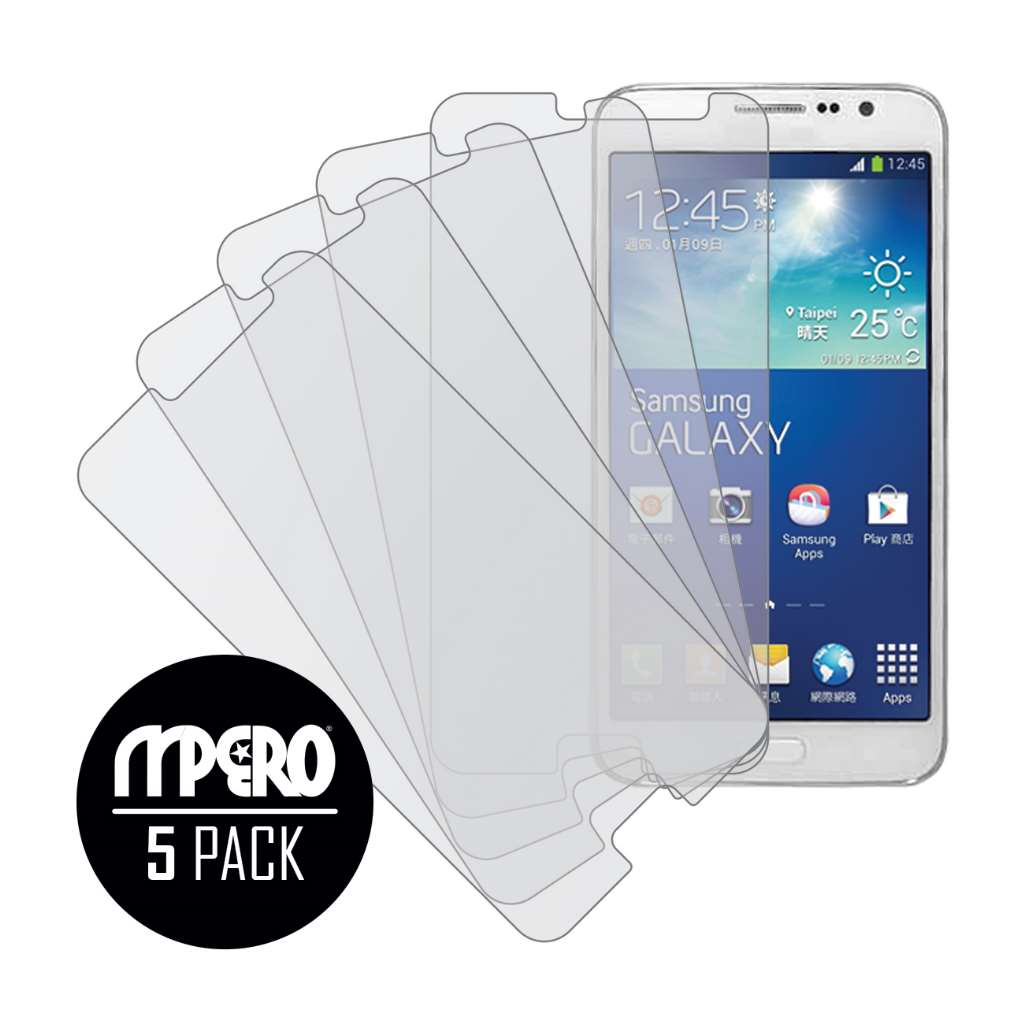 Samsung Galaxy Grand 3 MPERO 5 Pack of Matte Screen Protectors