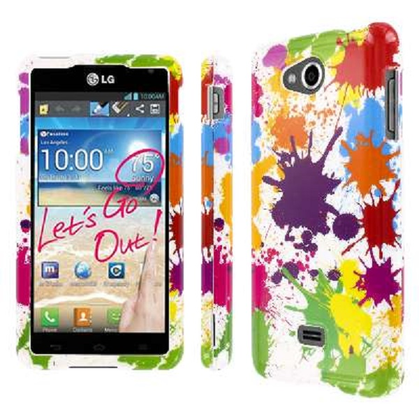 HTC One - White Paint Splatter MPERO SNAPZ - Glossy Case Cover
