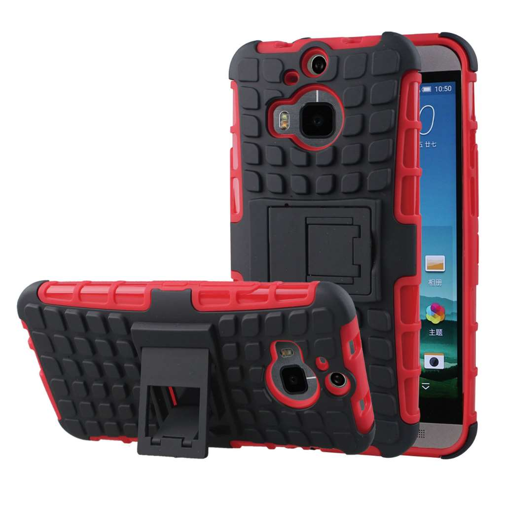 HTC One M9 Plus - Red MPERO IMPACT SR - Kickstand Case Cover