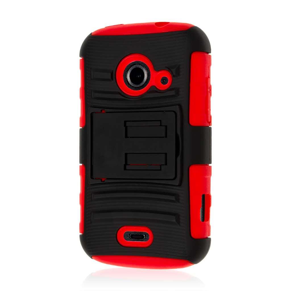 ZTE Prelude 2 - Red MPERO IMPACT XT - Kickstand Case Cover