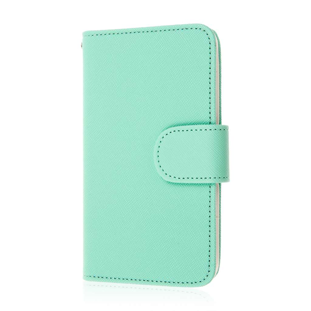 LG F60 - Mint MPERO FLEX FLIP Wallet Case Cover