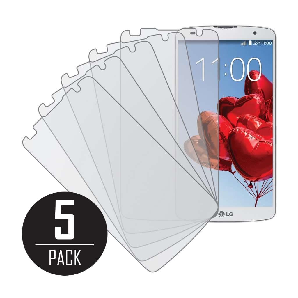 LG G Pro 2 MPERO 5 Pack of Matte Screen Protectors