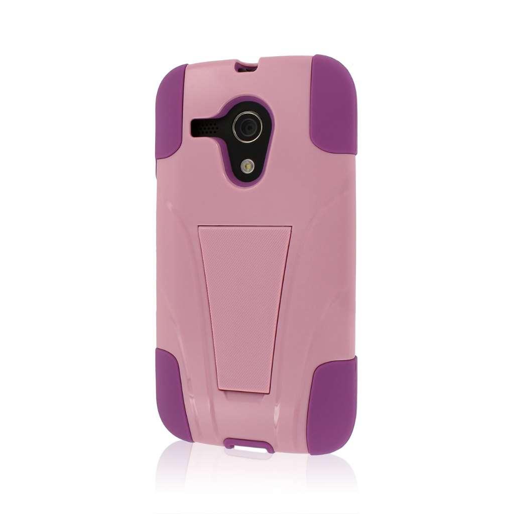 Motorola Moto G - Pink MPERO IMPACT X - Kickstand Case Cover