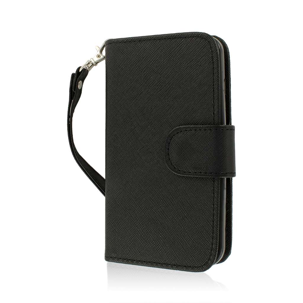 LG Optimus L90 - Black MPERO FLEX FLIP Wallet Case Cover