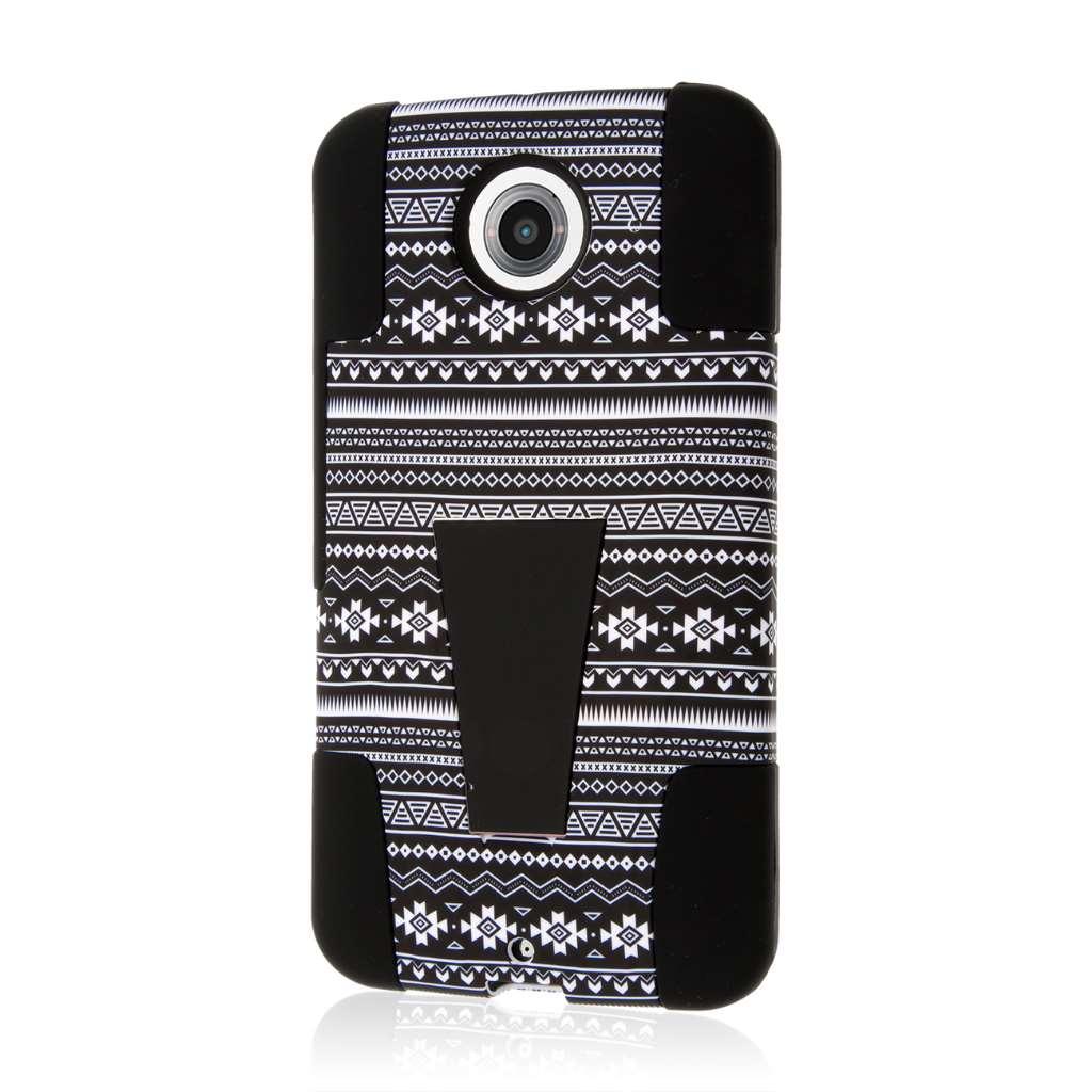 Google Nexus 6 - Black Aztec MPERO IMPACT X - Kickstand Case Cover