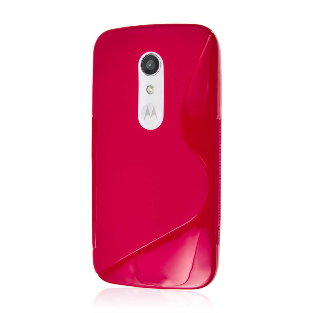 Motorola Moto G 2nd Gen 2014 - Hot Pink MPERO FLEX S - Protective Case Cover
