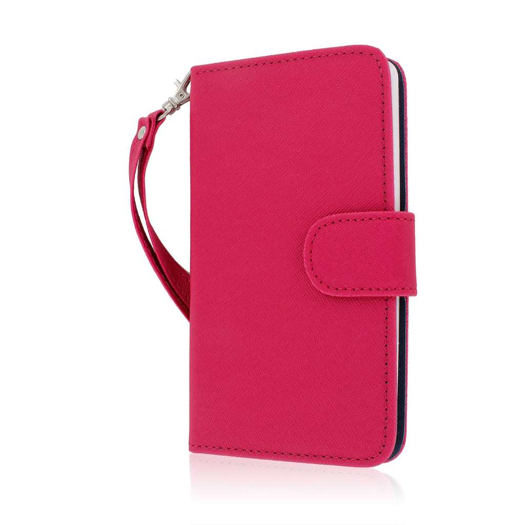 LG G3 - Hot Pink MPERO FLEX FLIP Wallet Case Cover
