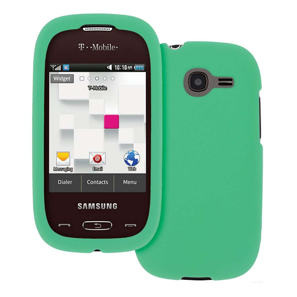 Samsung Gravity Q - Mint MPERO SNAPZ - Rubberized Case Cover