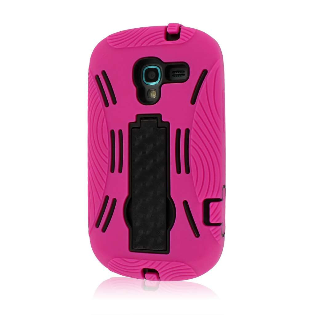 Samsung Galaxy Exhibit T599 - Hot Pink MPERO IMPACT XL - Kickstand Case