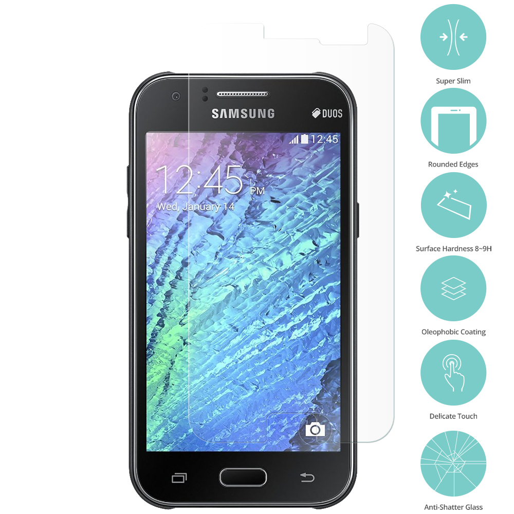 For Samsung Galaxy J1 2016 Clear Tempered Glass Film Screen Protector Clear