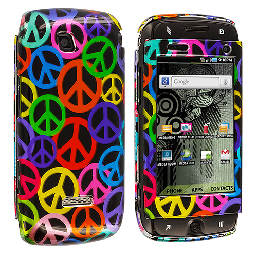 Samsung Sidekick 4G T839 Peace Sign Design Crystal Hard Case Cover
