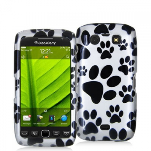 BlackBerry Torch 9850 9860 Dog Paw Design Crystal Hard Case Cover