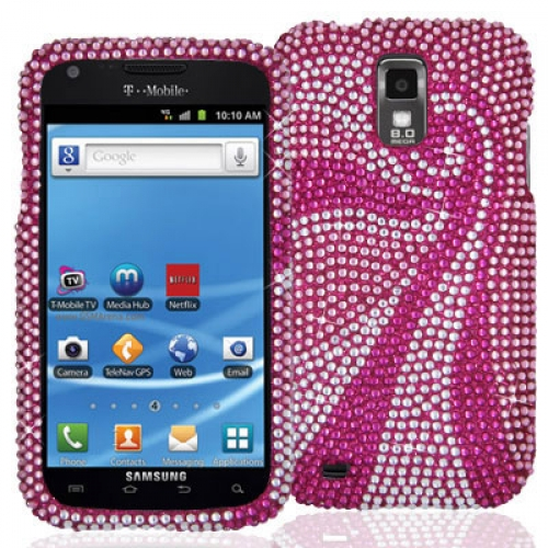 Samsung Hercules T989 T-Mobile Galaxy S2 Phoenix Tail Bling Rhinestone Case Cover