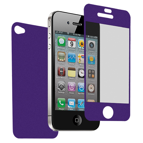 Apple iPhone 4 / 4S Purple LCD Screen Protector