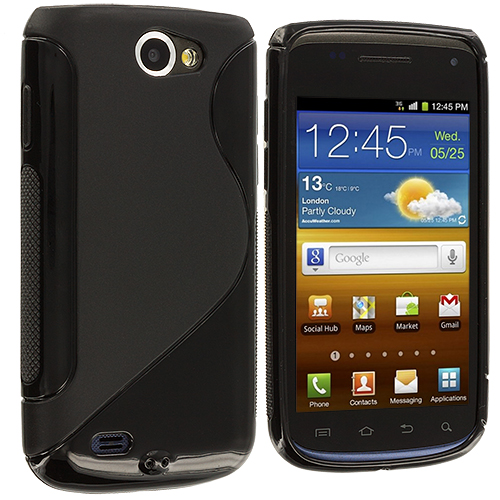 Samsung Exhibit 2 T679 Black S-Line TPU Rubber Skin Case Cover