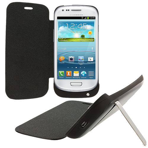 Samsung Galaxy S3 Black External Backup Battery Case Cover