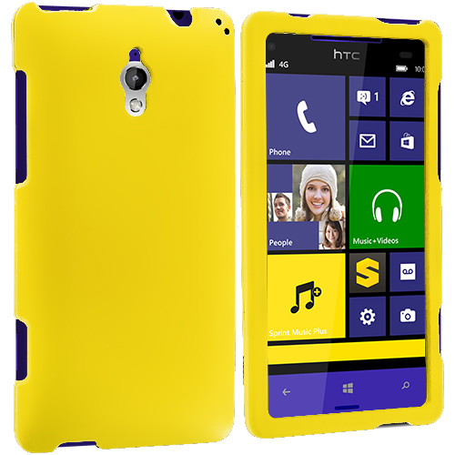 HTC 8XT Yellow Hard Rubberized Case Cover