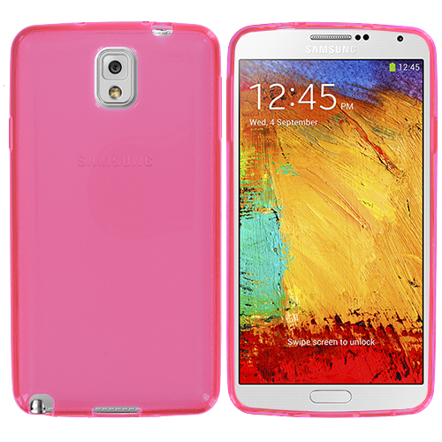Samsung Galaxy Note 3 N9000 Light Pink TPU Rubber Skin Case Cover