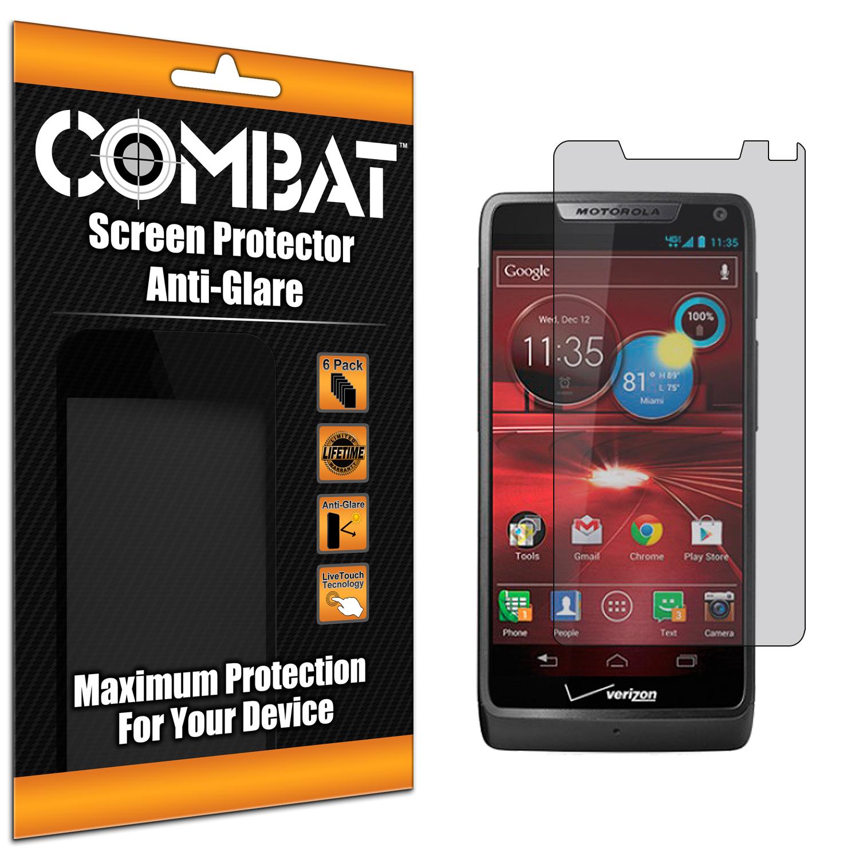 Motorola Droid Razr M XT907 / Luge Combat 6 Pack Anti-Glare Matte Screen Protector
